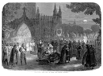 King John (play) - The death of King John, in an 1865 production of the play at the Drury Lane Theatre, London