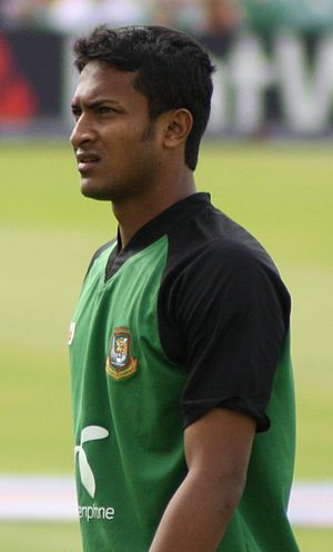Bangladesh national cricket team - Shakib Al Hasan captained Bangladesh during their historic Test series win against West Indies in 2009.