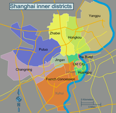 Map of Shanghai/Huangpu