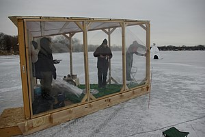 Ice shanty - The Vista Shanty, an unusual shanty with a view