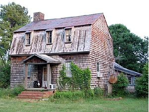 Shemuel Kearney House - The Shemuel Kearney House at its original location near Franklinton, North Carolina before being moved.