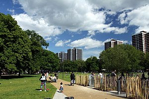 Shepherd's Bush - Image: Shepherds Bush Common in London, spring 2013 (4)