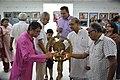 Shibnath Basak Lighting Inaugural Lamp - 45th PAD Group Exhibition Inauguration - Kolkata 2019-06-01 1536.JPG
