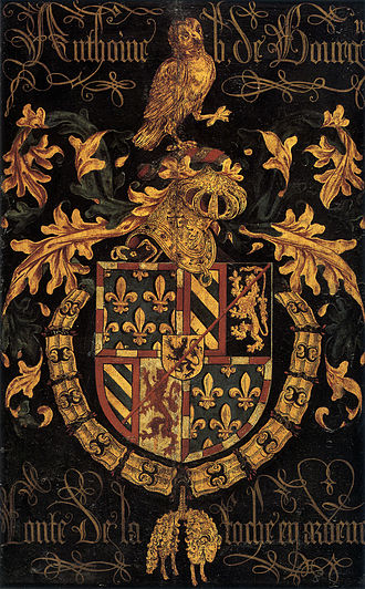 Pierre Coustain - Shield of Antoine of Burgundy as knight of the Order of the Golden Fleece