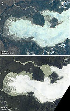 San Quintín Glacier - Retreating San Quintin Glacier