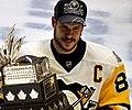 Sidney Crosby with Conn Smythe Trophy 2017-06-11 2 (cropped1).jpg