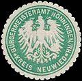 Siegelmarke Bürgermeisteramt Hönningen-Rhein Kreis Neuwied W0383942.jpg