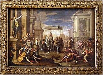 Sigismondo Caula - Miracle of sant'Ambrogio, Galleria Estense