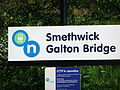 Sign at Smethwick Galton Bridge railway station (high level) - DSCF0606.JPG