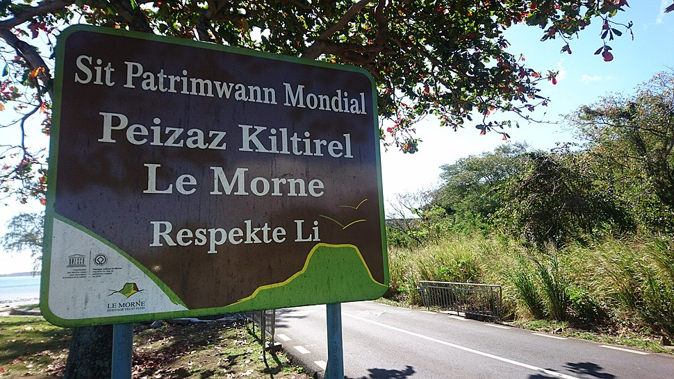 Sign in Mauritian Creole