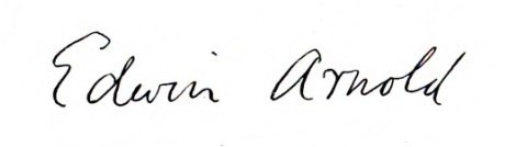 Signature of Edwin Arnold