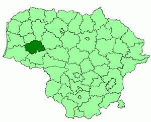 Kvėdarna - Image: Silale district location