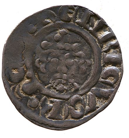Silver penny of Richard I, York Museums Trust Silver penny of Richard I (YORYM 2000 2147) obverse.jpg