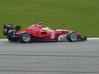 Liverpool F.C. (Superleague Formula team) - Liverpool F.C. car on track at Silverstone Circuit (2010)