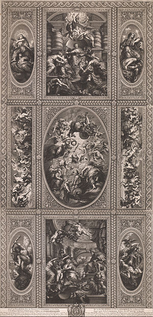 Simon Gribelin - Painting of the Ceiling in the Banqueting House at Whitehall