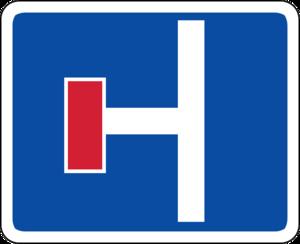 no thru ahead sign