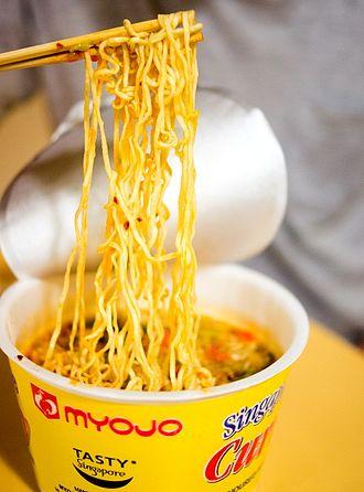 Instant soup - A cup of instant ramen noodle soup