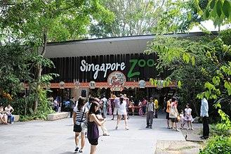 Singapore Zoo - Image: Singapore Zoo entrance 15Feb 2010