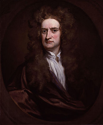 Isaac Newton - Newton in 1702 by Godfrey Kneller
