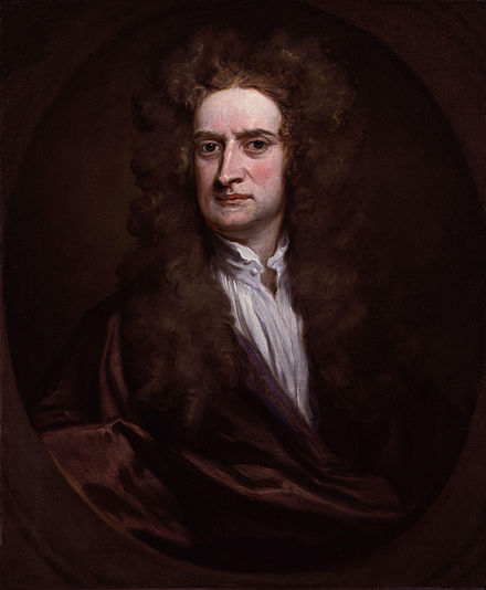 Newton in 1702 by Godfrey Kneller Sir Isaac Newton by Sir Godfrey Kneller, Bt.jpg