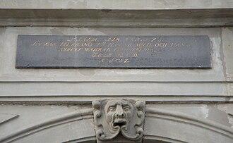 Psalm 118 - Skeppsbron 6, Stockholm, inscription