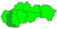 Poloha arcidiecéze trnavské v rámci Slovenska