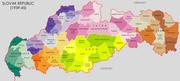 Slovak Republic 1939 45 Administrative Map