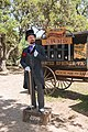 Snake-oil salesman Professor Thaddeus Schmidlap at Enchanted Springs Ranch, Boerne, Texas, USA 28650a.jpg
