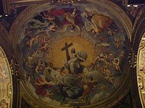 Soffitto della cappella di sinistra della basilica ursiana, cattedrale di Ravenna