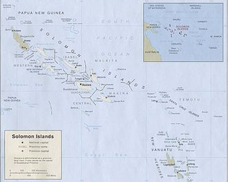 Geography of the Solomon Islands - The Solomon Islands in 1989 (click to enlarge).