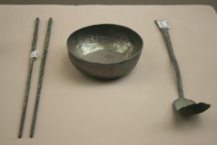 Song Dynasty silver chopsticks, cup, and spoon