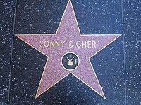 Золота зірка sonny cher на бульварі слави