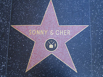 Sonny & Cher - Sonny and Cher's star on Hollywood Walk of Fame.