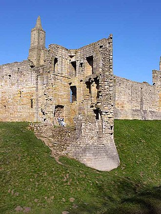 Warkworth Castle - The Carrickfergus Tower in the south-west corner partially collapsed in the 18th century.