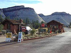 South at East Entrance Checking Station, Zion National Park, Oct 16.jpg