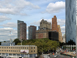 English: Southern Manhattan and battery park