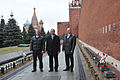 Soyuz TMA-12M crew at the Kremlin Wall.jpg