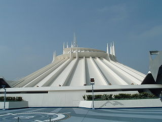 Space Mountain (Disneyland) Roller coaster at Disneyland in operation since 1977.