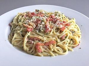 Carbonara - Image: Spaghetti alla Carbonara 2