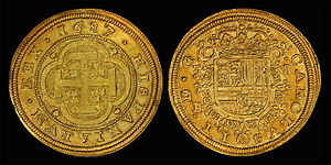 Spanish escudo - Eight Spanish Escudos (1687)