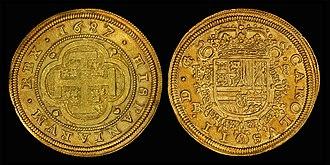 Spanish escudo - Eight Spanish Escudos (1687)