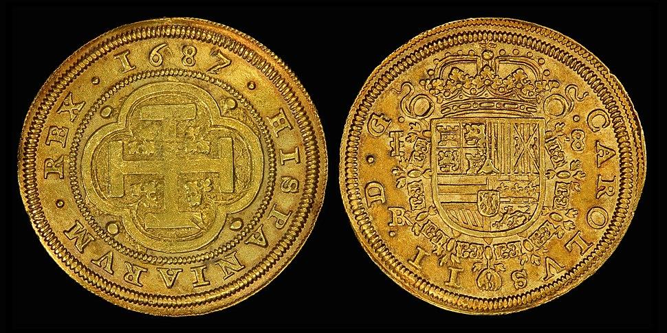 Spain 1687 8 Escudo