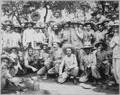 Spanish prisoners, at noon-day meal, Manila. Greely Collection., ca. 1898 - NARA - 524381.tif