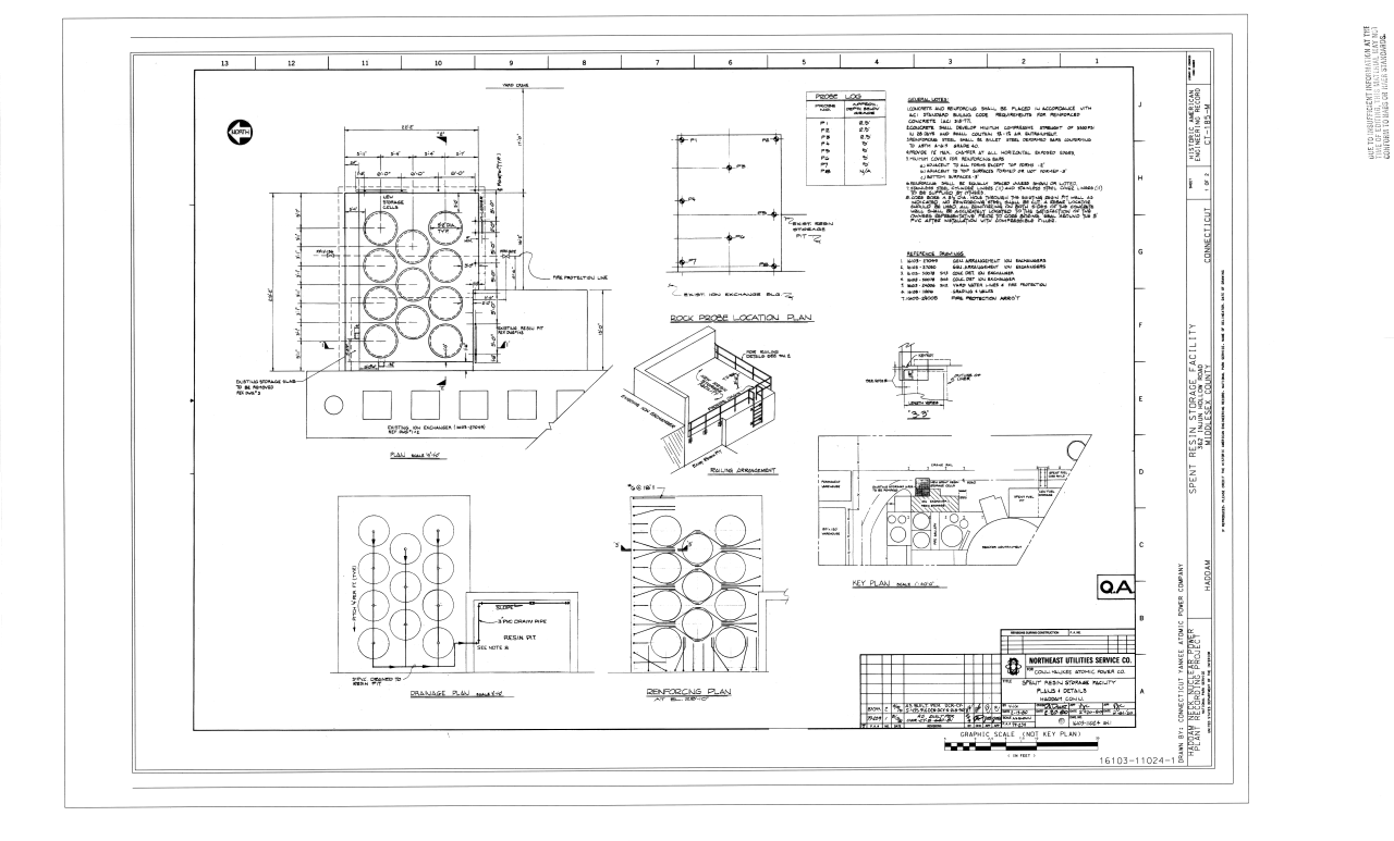 Filespent Resin Storage Facility Plans And Details Haddam Neck Nuclear Power Plant Circuit Diagram Spent 362 Injun Hollow Road
