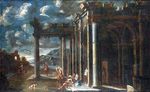 Spera, Clemente (circle of) - An architectural capriccio with Christ giving the keys to Peter -.png