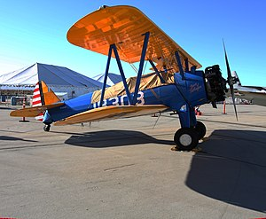Tuskegee Airmen - The Stearman Kaydet training aircraft used by the Tuskegee Airmen, bearing the name Spirit of Tuskegee