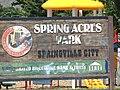 Spring Acres Park sign in Springville, Utah, Aug 15.jpg