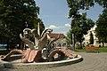 Sremska Mitrovica, fontána v parku.jpg