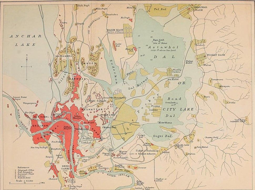 Srinagar and Environ map 1911