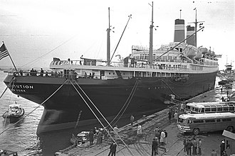 SS Constitution - SS Constitution on a visit to Haifa on March 10, 1953